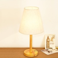 Newest Modern Fashion Decoration E27 110V 220V European Simple Wooden Table Lamps For Bedroom Living Room