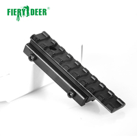 Fiery Deer High Quality 11mm to 20mm Dovetail Rail Adapter Converter Mount Scope Base Aluminum Alloy Black/D12