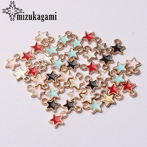 Zinc Alloy Black White Enamel Charms Mini Stars Charms 6mm 50pcs/lot For DIY Jewelry Making Finding Accessories(China)