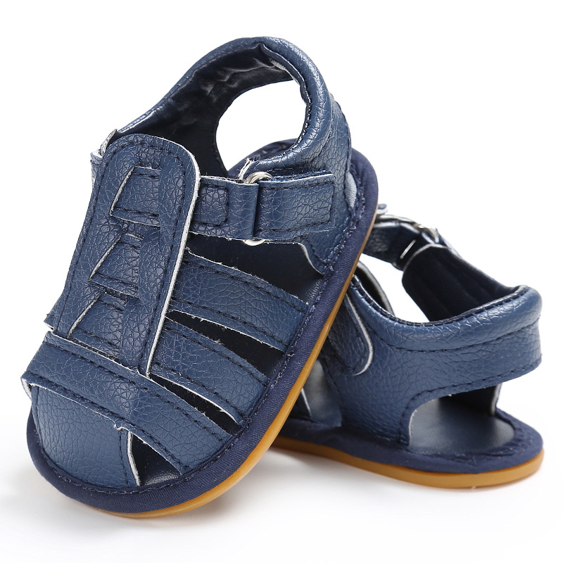 Summer Shoes Baby Boys Soft Leather Sandals Baby Boys Summer Prewalker Soft Sole Genuine Leather Non-slip Kids Toddler Shoes