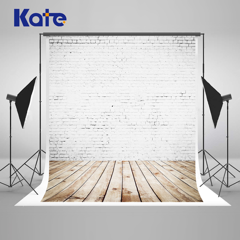 10x20FT Kate Write Brick New Born Photography Backgrounds Wood Floor Baby Shower Backdrop Portraits Photobooth Backdrop стоимость
