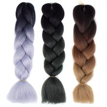 Ваш Стиль 60 Цветов Ombre Два Тона/Три Тона 24 ''100 г/шт. Синтетических Плетение Волос Крючком Слон кос(China (Mainland))