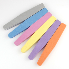 5pcs/lot 17.8cm*3cm*1.3cm Sunshine Nail Art Files Slim Sanding Set Nail Buffers Polish Gel Tools 100/180  Manicure Nail Files