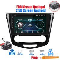 10.1 2 din 2.5D Screen Android 8.1 Car Radio GPS Navigation Multimedia Player for Nissan X Trail Qashqai 2014 2017 wifi Stereo