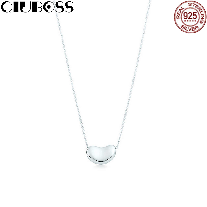 QIUBOSS TIFF 925 Sterling Silver heart-shaped Pendant Necklace Clear CZ Women Pendants Necklaces Jewelry Birthday Gift one head rotary belgian waffle maker machine for commercial restaurant machinery wholesale