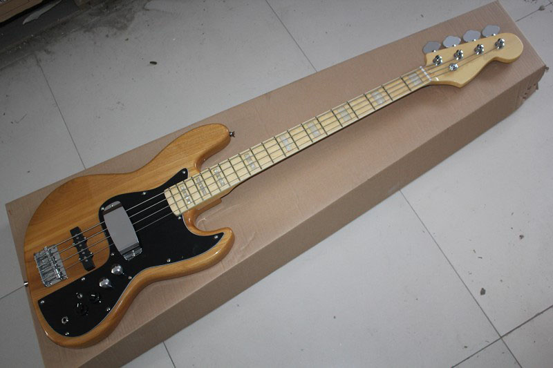 . Free shipping jazz bass guitar 4 strings jazz Electric bass guitar with Vintage Active pickups in stock . стоимость