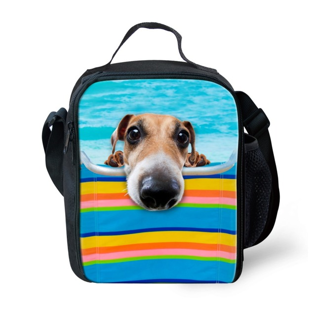 Forudesigns Unique 3d Zoo Animals Dog Print Lunch Bags Cute Dogs Lunchbox For Kids Thermal