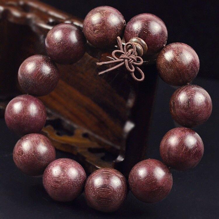 Morow Мода природных Фиолетовый сандалового дерева Будда круглый Бусины молитва женские мужские ювелирные изделия браслет 1.2 до 2.0 см для пода...