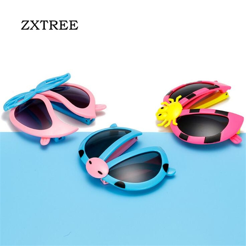 cefaf2a687 ZXTREE Fashion Kids Folding Sunglasses Children HD Lens Cute Baby Glasses  Bow Design Frame Boys Gilrs Cat Eye Gafas UV400 Z87-in Sunglasses from  Mother ...