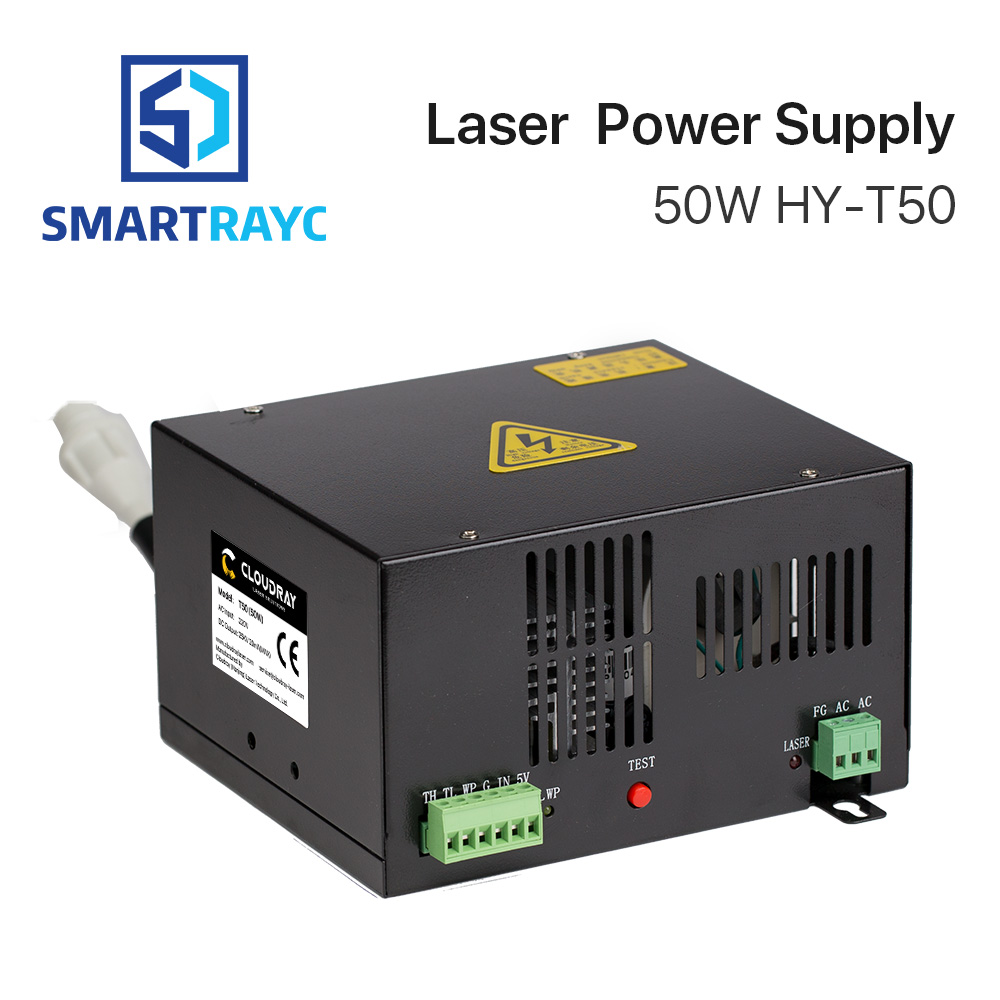 Smartrayc 50W CO2 Laser Power Supply for CO2 Laser Engraving Cutting Machine HY-T50 50w co2 laser power supply for co2 laser engraving cutting machine myjg 50w