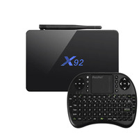 Vendita calda Android 6.0X92 TV Box Amlogic S912 Octa-core 2.4 GHz/5.8 GHz Blutetooth 4.0 64bit WiFi HD 2.0a con USB 2.0 AV