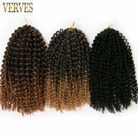 VERVES crochet tresses cheveux synthétiques 12 pouces tresse bouclée 1-10 paquet 60 g/paquet brun, blond, noir ombre tressage extensions de cheveux