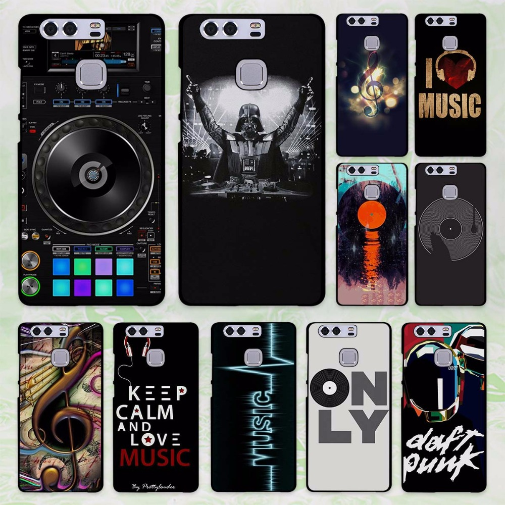 dj music bank design hard black Case Cover for Huawei P8 P9 lite P9 Plus p10 P10 Plus P7 Mate9 Mate8 Mate s