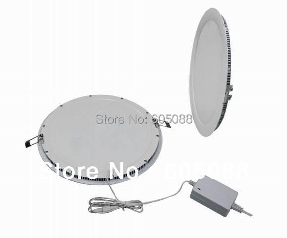 2016 New High Quality 10 round led panel light 18w Epistar SMD 3528 mini led flat panel lamps CRI>80 white color 1360lm CE&ROHS brelong 15w smd 3528 led panel light