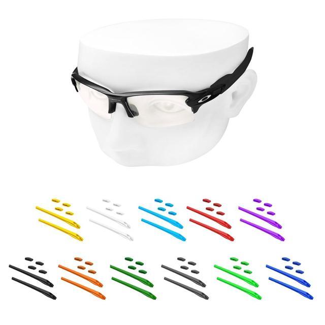 OOWLIT almohadillas para la nariz y los oídos para juegos de gomas, gafas de sol Oakley Flak 2,0 XL OO9295