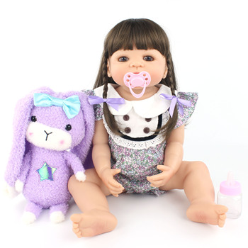55cm Original Full Silicone Body Reborn Baby Doll Toy For Girl Newborn Princess Toddler Babies Classic Bonecas Kid Birthday Gift
