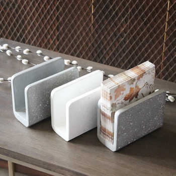 Concrete  tissue box silicone mold cement towel box creative plaster concrete handicraft mould for home ecoration - DISCOUNT ITEM  25% OFF All Category