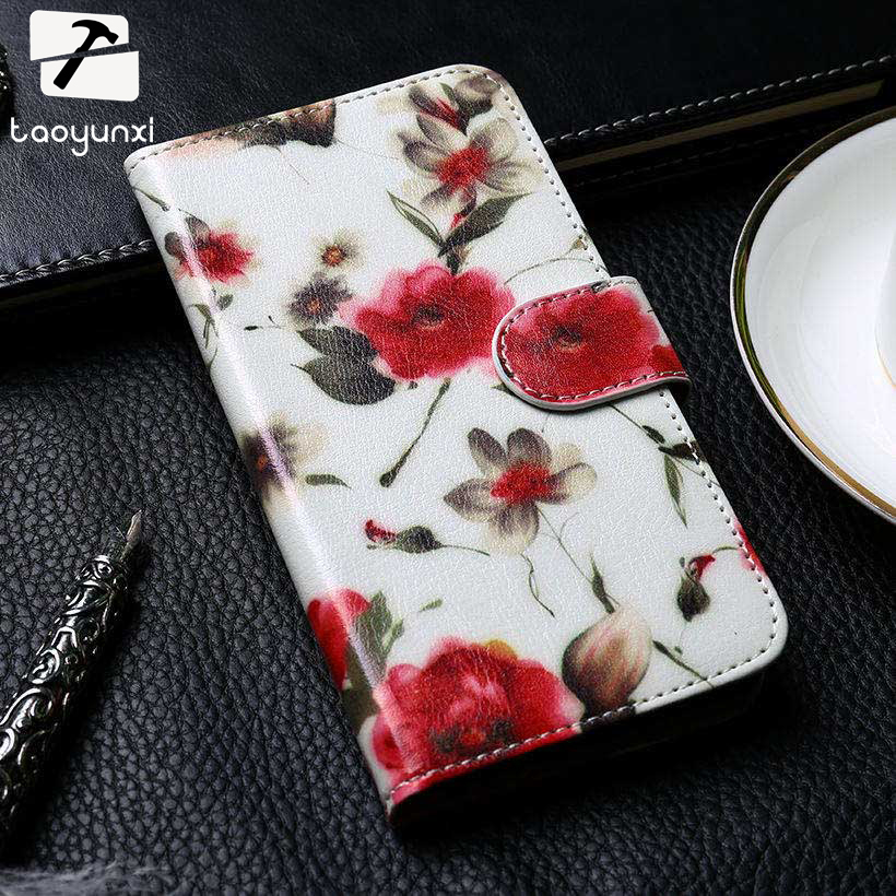 TAOYUNXI PU Leather Cover Case For Alcatel OneTouch Pixi 3 4.5 inch 3G 4027 4028 pixi3 OT 4027X <font><b>4027D</b></font> 4028A 4028D Case Card Slot image