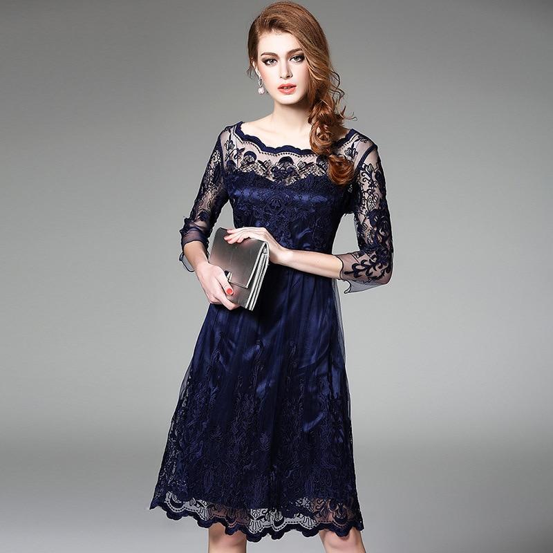 New embroidery dress makaroka