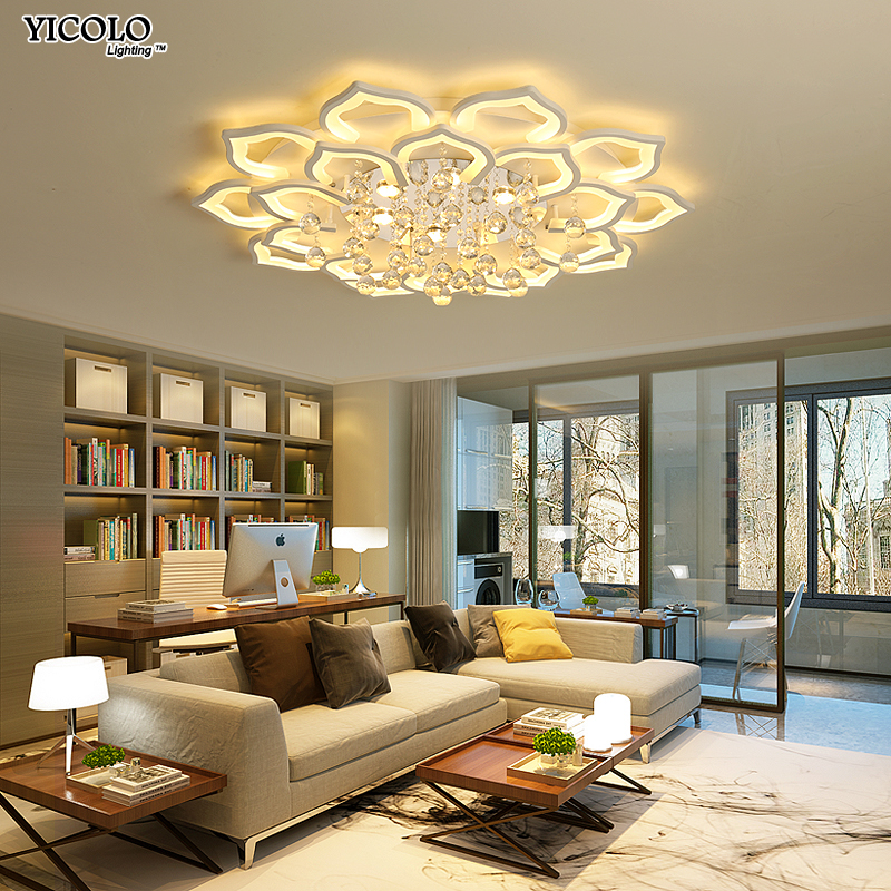 Lights & Lighting Square Led Ceiling Lights Living Room Bedroom Remote Control Lamparas De Techo Moderna Gold Coffee Frame Home Fixtures
