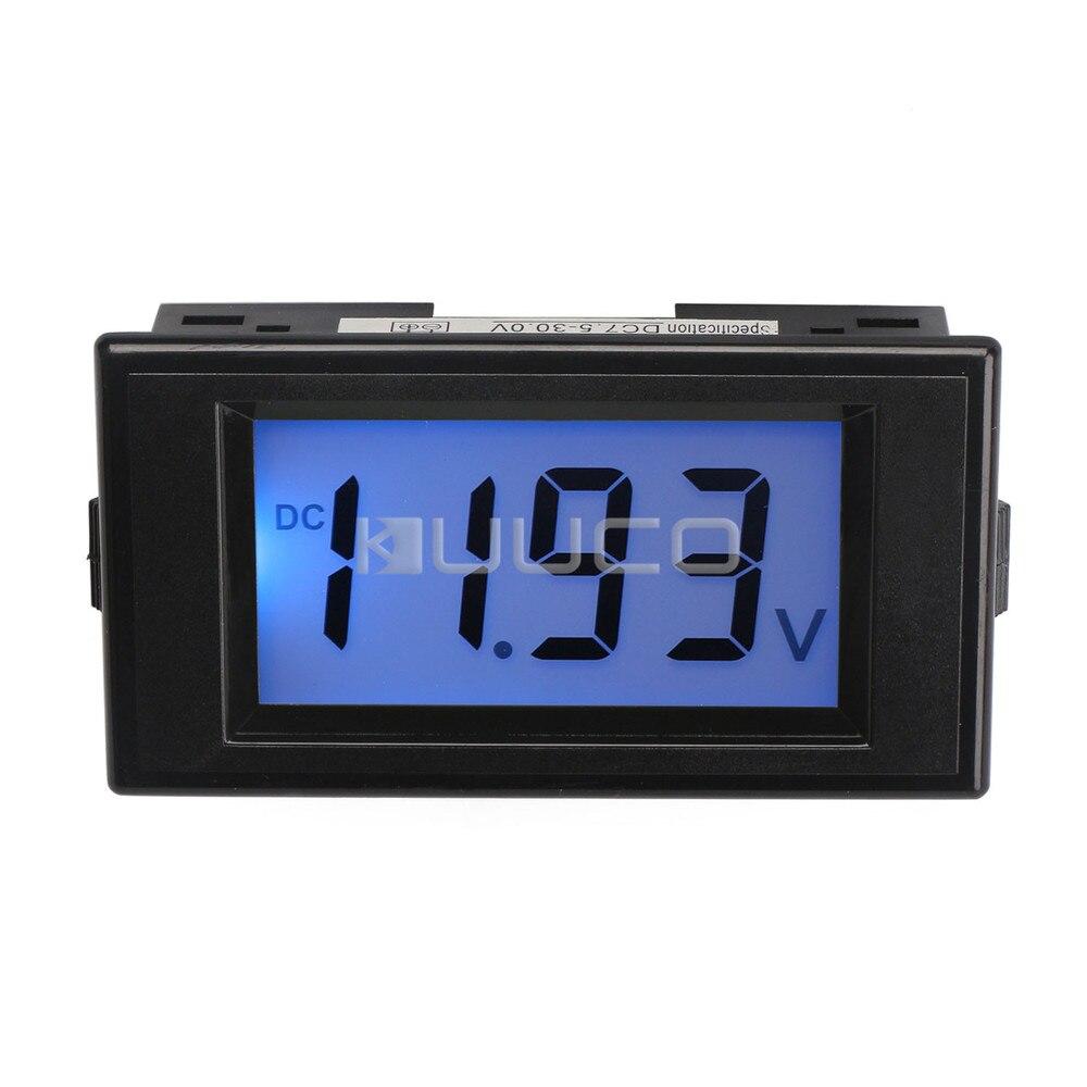 Digital Panel Voltmeter : Digital voltmeter dc v blue lcd voltage panel