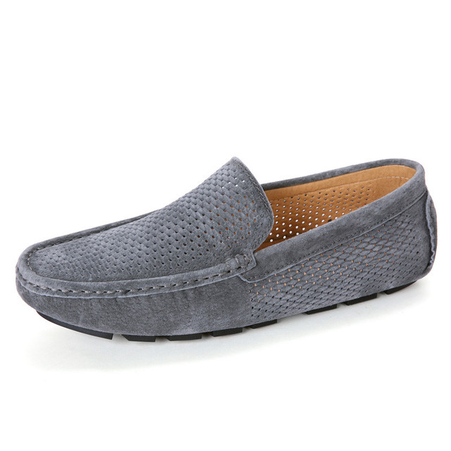 Nice Summer Shoes Men Loafers Breathable Natural Suede Moccasins Men Shoes  Casual High Quality