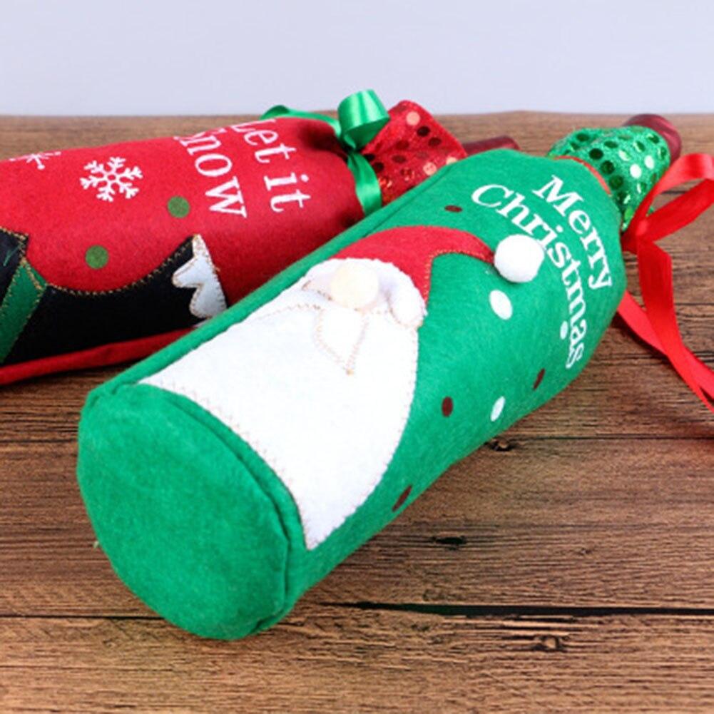 Weihnachten Weinflasche Tasche Bogenknoten Weihnachtsbaum ...