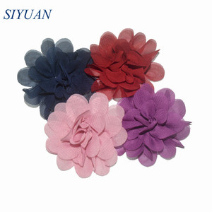 Image 3 - 300pcs/lot 20 Color U Pick 2 Inch Small Chiffon Petals Flowers Flat Back DIY Craft Wedding Decoration Wholesale Supply TH50