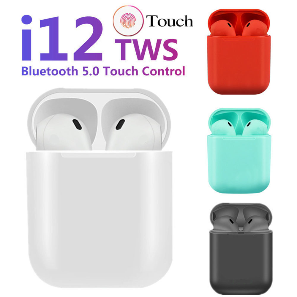 i12 Tws Bluetooth Earphone Wireless Earphones Touch Control Earbuds 3D Surround Sound Headset With Charging for iPhone Android in Bluetooth Earphones Headphones from Consumer Electronics
