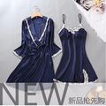 New Summer sexy Satin nightdress female pyjamas Spaghetti Strap Lace pijamas nightgowns robes for women Sleepwear 100% Silk