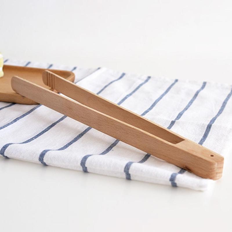 1 قطعة كعكة الخشب ملقط ملقط المطبخ المعجنات الشواء الخبز سلطة الخضار كليب المشبك الآمن الغذاء ملقط أداة أدوات المطبخ a20