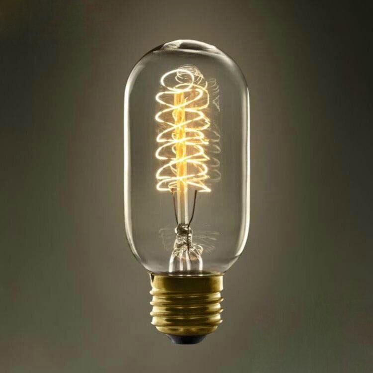 LightInBox Wrap Fil À Incandescence Vintage Edison Ampoule Pour Salon Chambre Salle D'étude Cuisine E27 AC 220 V 40 W T45