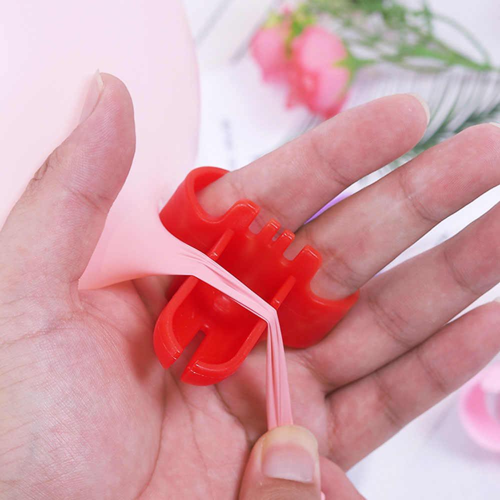 1 Pcs Nova Alta Qualidade Rápida Prendedor Facilmente Nó Ferramenta Atador Balão Balão De Látex Balão de Festa de Casamento Acessórios 4 cores