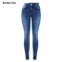 Arrow Car Side Stripe Jeans Women`s Mid High Waist Stretch Denim Skinny Pants Trousers Jeans For Women Plus Size 3XL