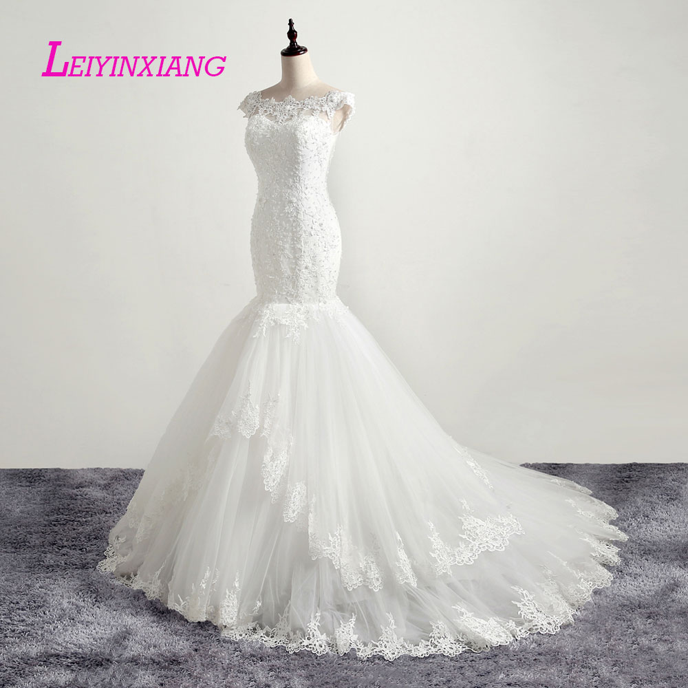 LEIYINXIANG New Arrival Wedding Dress Bride Gown Vestido De Noiva Sexy Mermaid Sweetheart Backless Beading Appliques Princess in Wedding Dresses from Weddings Events