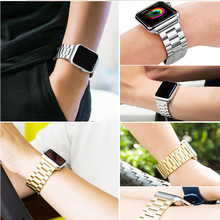 Stainless Steel Watch Band For iWatch Apple Link Bracelet 38mm 42mm