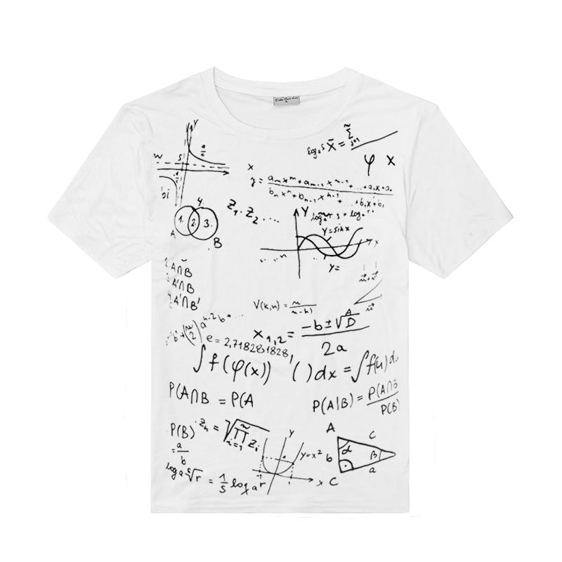2016 Nueva Algodón Geometría Matemáticas Imprimir Camiseta de - Ropa de hombre