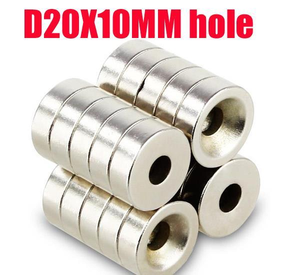 Herzhaft 20*10 N35 Magnet 5 Pc Kleine Disc Ring Magnet 20mm X 10mm Loch 5mm Runde Rare Earth Neodym Magneten N35 Moderater Preis