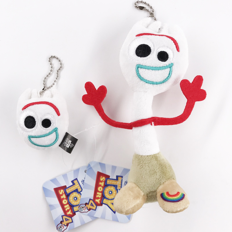 Wholesale New 20pcs Movie Toy Story 4 Forky Soft Plush Stuffed Doll Toys Keychain Anime Figure