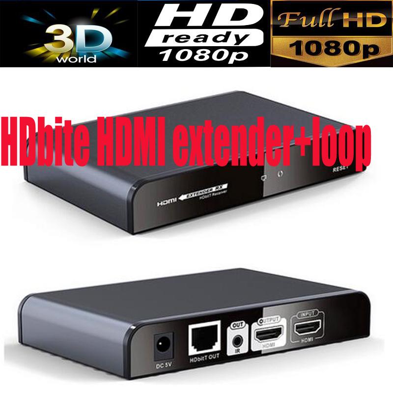 Prix pour HDMI Récepteur pour LKV383pro HDbite HDMI extender avec IR & HDMi Boucle jusqu'à 120 M suports 1 Émetteur à N récepteurs