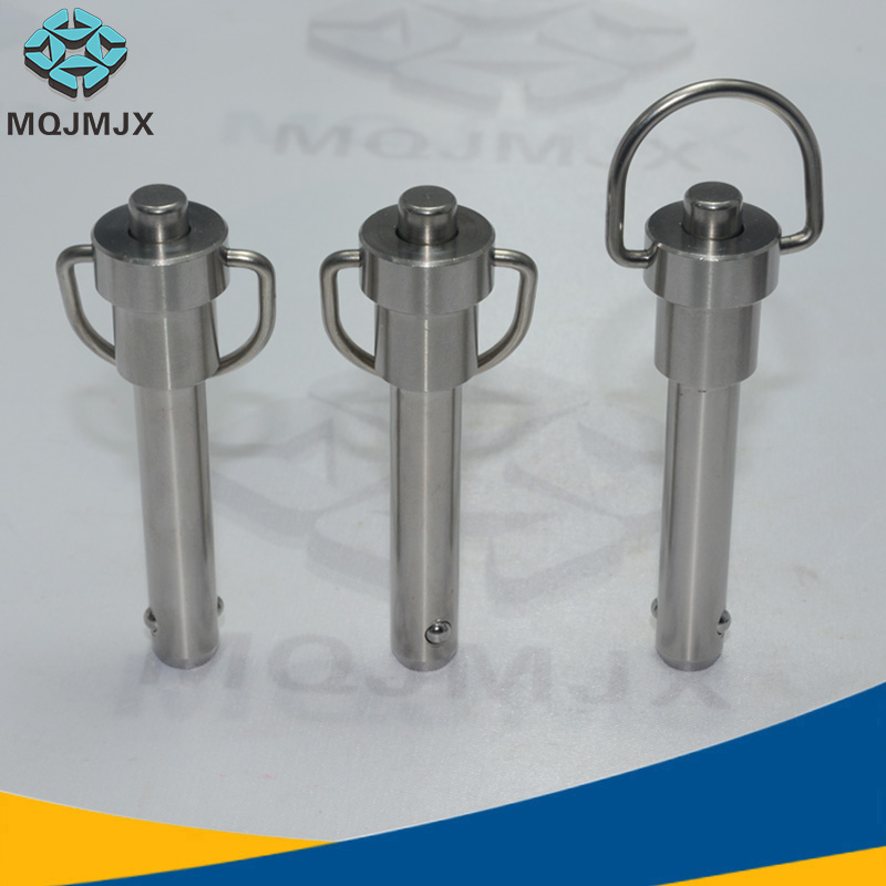 Stainless steel Button Type Ring handle Quick release pin Ball lock pin Pull ring handle quick lock pin diameter 5-25mm