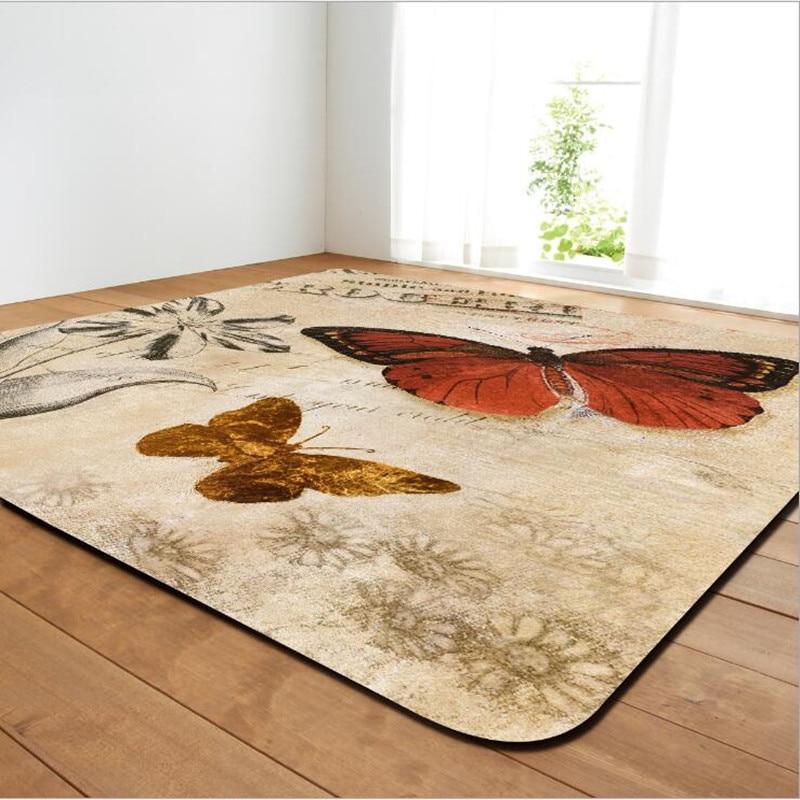 Enfants chambre décor tapis 3D motif papillon grande surface tapis pour salon tapis enfant bébé maison chambre jeu ramper doux tapis