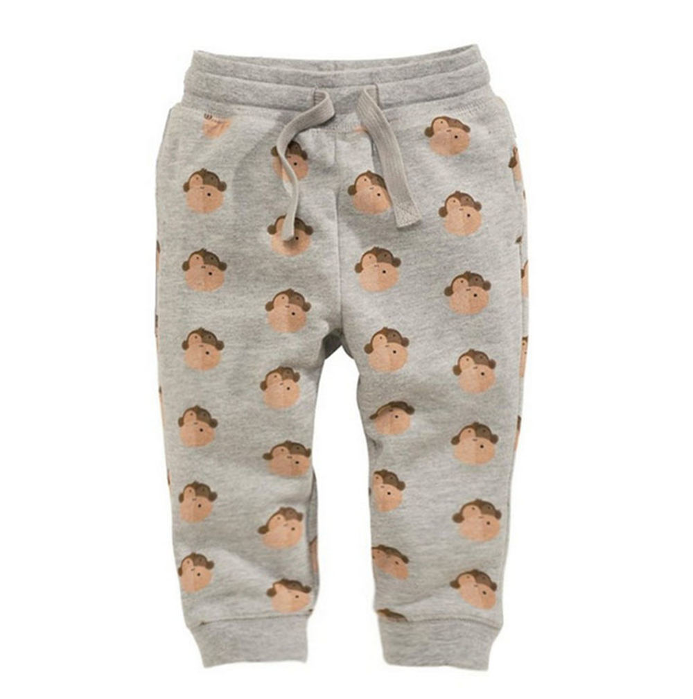 Jumping Meters Monkey Printed Boys Cotton Pants Children Trousers 18 Brand Autumn Winter Baby Clothes Sweaterpants Kids Leggings
