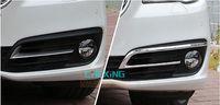 For 2015 2014 BMW 5 Series f10 Chrome Front Fog light foglamps cover trim 2pcs