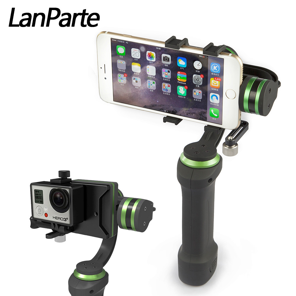 Lanparte HHG 01 professional 3 Axis Gimbal stabilizer Brushless handheld steadicam smartphone steadycam for iphone 6s 6s plus 7