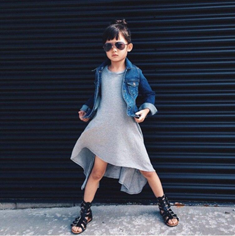 e5d8c6807ab0 2017 Grils  Dresses European Style Casual Spring Summer Cotton Black ...