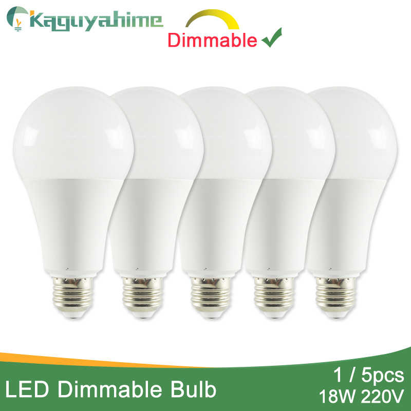 Kaguyahime 1pc/5pcs 18W Dimmable High Bright E27 LED Lamp 220V LED Bulb E27 LED Light Lampada Lampara Bombilla Ampoule 6w 9w 15w