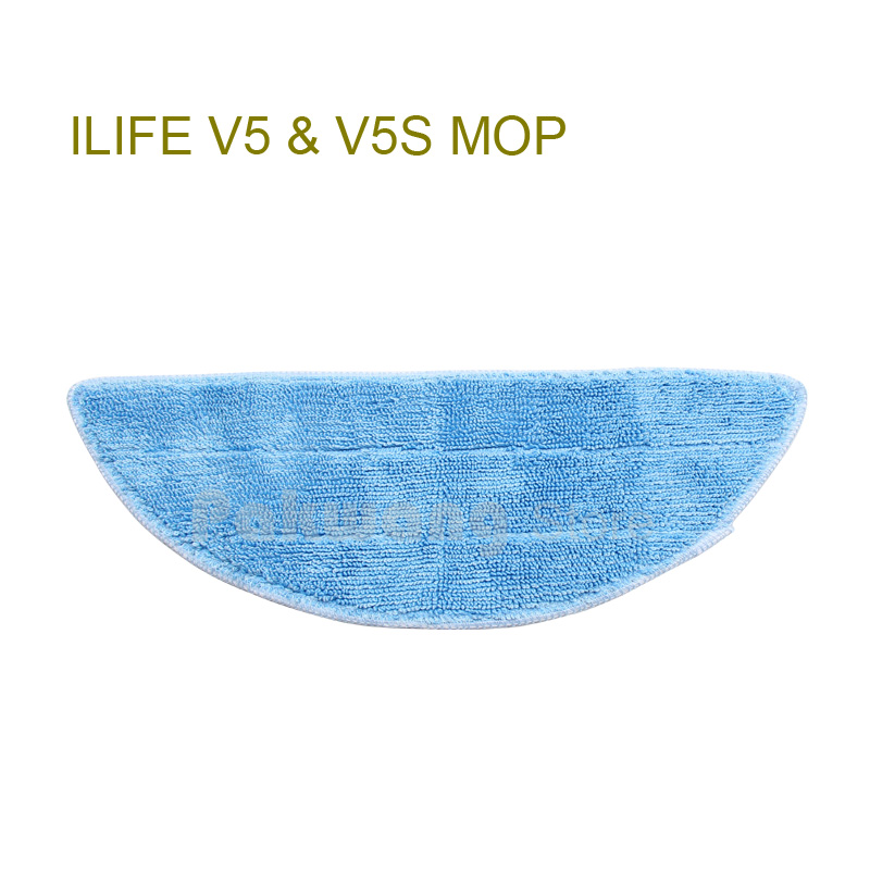 Original ilife V5 mop for Robot Vacuum Cleaner ILIFE model 2016 new Spare Parts replacement from factory, 1 pc, free shipping good quality 5300mah 3 7v replacement battery for for irobot bravva jet 240 241 244 robot cleaner parts accessoies not mop