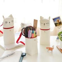 Творческая Карандаш сумка Kawaii сумка ткань кошка эмоции Новинка сумка пенал на молнии стационарные для школы