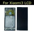 100% testado display lcd + montagem da tela de toque para xiaomi mi3 lcd substituição lcd com moldura wcdma xiaomi3 lcd